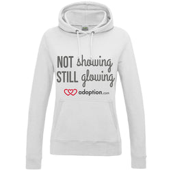 Not Showing, Still Glowing Women's Pullover Hoodie | Adoption Gifts, Clothing & Apparel