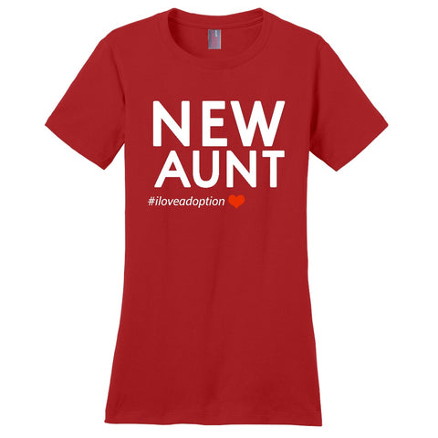 New Aunt Women's T-Shirt | Adoption Gifts, Clothing & Apparel