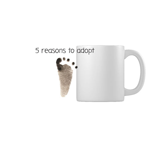 5 Reasons to Adopt | Adoption Gifts, Adoption Mug