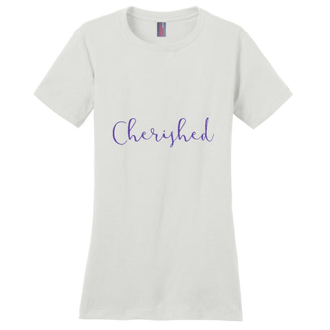 Cherished Women's T-Shirt | Adoption Gifts, Clothing & Apparel