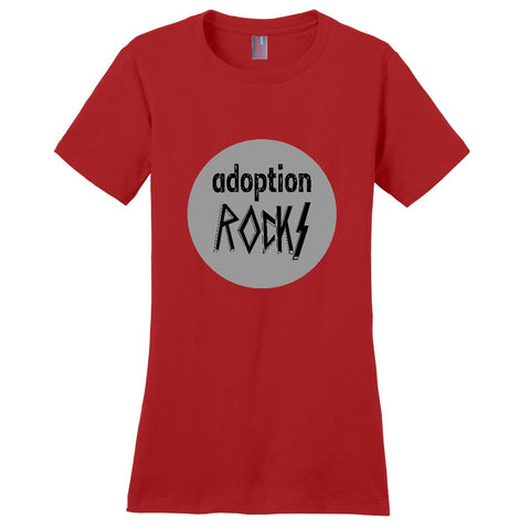 red adoption rocks shirt