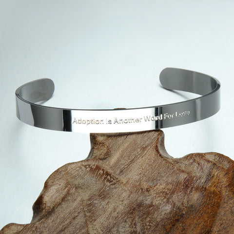 Adoption is another word for love bracelet-Adoption Jewelry