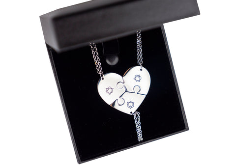Pieces Of Our Heart Adoption Symbol Necklace Set Three Necklaces