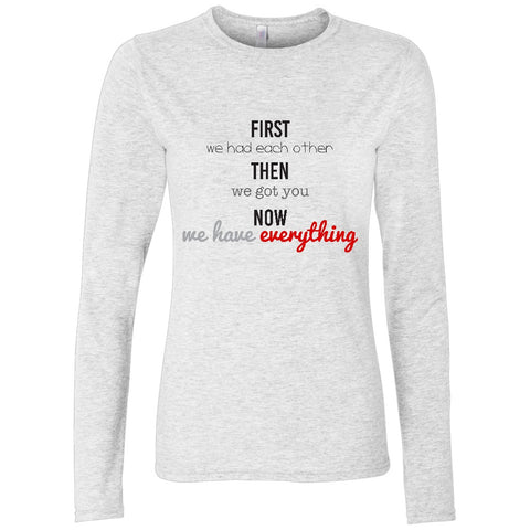 First, Then, Now Women's Long Sleeve Shirt | Adoption Gifts, Clothing & Apparel