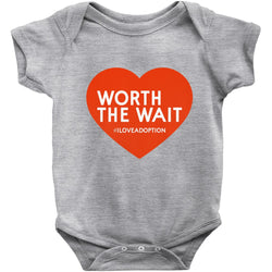 Worth the Wait Onesie | Adoption Gifts, Clothing & Apparel