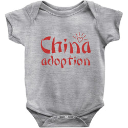 grey china adoption onesie