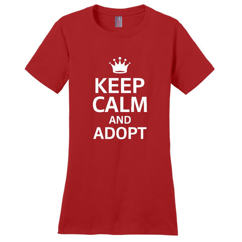 Keep Calm and Adopt Women's T-Shirt | Adoption Gifts, Clothing & Apparel