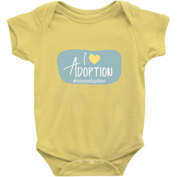 I love adoption onesie yellow