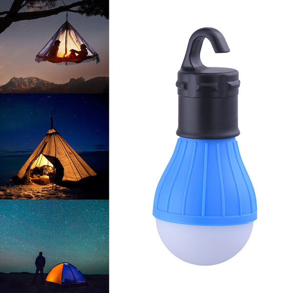 Portable outdoor Hanging 3LED Camping Lantern,Soft Light LED Camp Lights Bulb Lamp For Camping Tent Fishing 4 Colors,AAA Battery - TheUrbanSky