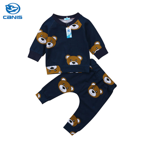 sweatshirt T-shirt Pants Legging Outfit for Newborn Infant Kid Clothing