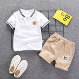 Suit Gentleman Style Wedding Shirt +Pants 2pcs Clothes for Boys Summer Set