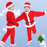 Christmas Santa Claus Suit Top Quality Christmas Costume Suit Baby Boy/Girl 3PCS Kids New Year Children's Clothing Set