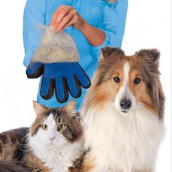 Pet Dog Product Silicone Massage True Touch Glove Deshedding Gentle Efficient Grooming Bath Supplies Blue - TheUrbanSky