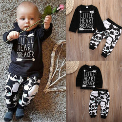 Infant Baby Newborn Boy Clothes Set Little Girl T-shirt Tops Legging Pants Cute Animals Cartoon Cotton 2pcs Clothing Outfit Set - TheUrbanSky