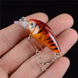 New 1pcs 4.5CM/4G Laser Hard Crank Fishing Lure Crankbait Treble Hooks 3D Eyes Bait Fishing Tackle - TheUrbanSky