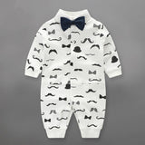 Newborn Baby Boy Rompers 100% Cotton Tie Gentleman Suit Bow Leisure Body Suit Clothing Toddler Jumpsuit Baby Boys Brand Clothes - TheUrbanSky