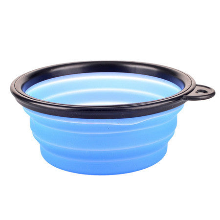Collapsible foldable silicone dow bowl candy color outdoor travel portable puppy doogie food container feeder - TheUrbanSky