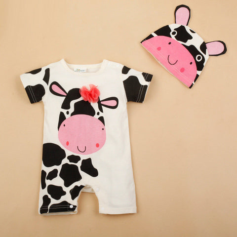 Newborn Baby Rompers Summer Style Baby Girls Clothes 2pcs Animal Cartoon Infant Jumpsuits Ropa Bebes Baby Boy Brand Clothing Set - TheUrbanSky