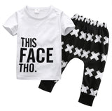 Tops + Harem Letter White Cotton Pants 2pcs Set Boys 0-5Y 2pcs Clothes Sets 2016 Summer Baby Boy Clothing Toddler Casual T-shirt - TheUrbanSky