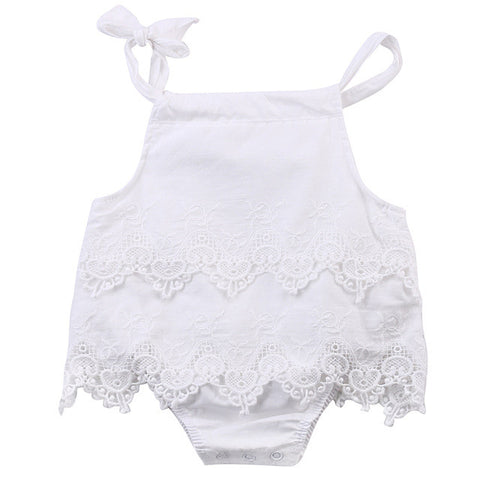 Baby Girls Lace Sleeveless Romper Cotton Jumpsuit Outfit Sunsuit Flower Clothes 0-18M - TheUrbanSky