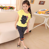 Toddler Kids Baby Girls Outfit Clothes  Print T-shirt Tops+Dot Pants Trousers 2PCS Set Tops children's clothing sets - TheUrbanSky