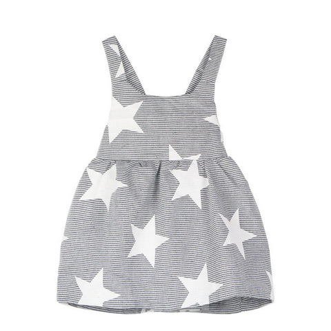 Summer Style Baby Girl Dress Striped Star Backless Strap Dress Toddler Kids Dresses for Girls Clothes Clothing - TheUrbanSky