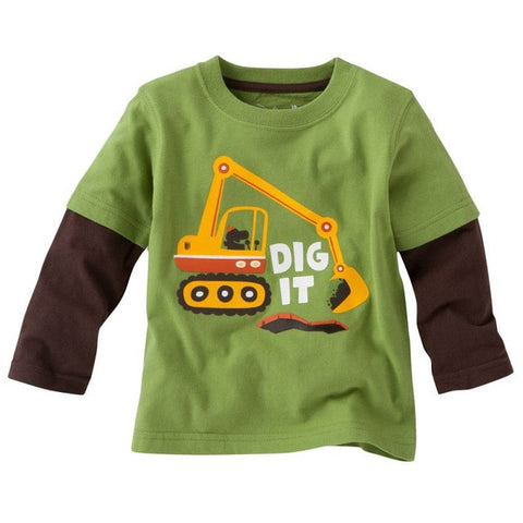 Fashion Autum Children Tshirt Toddler Long Sleeve Tees Baby Boy Tops Clothing Shirts - TheUrbanSky