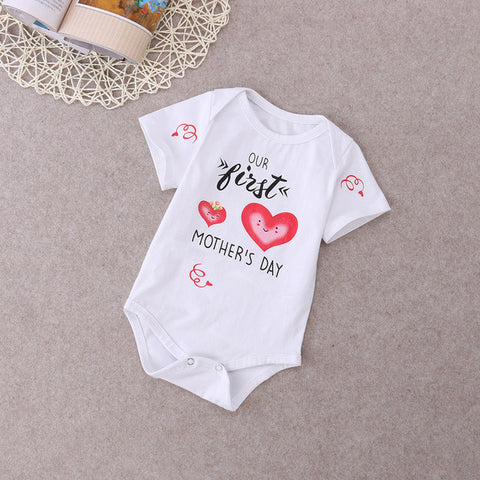 Newborn Infant Baby Boys Girls Clothing Bodysuit Cute Short Sleeve Jumpsuit Outfit Sunsuit Baby Girl Clothes - TheUrbanSky