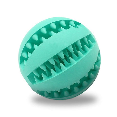 Soft Rubber Chew Ball Toy For Dogs Dental Bite Resistant Tooth Cleaning Dog Toy Balls for Pet Training Playing Chewing 4 Colors - TheUrbanSky