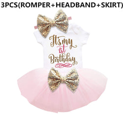 Bow Tutu Newborn Dress (Tops+Headband+Dress) 3pcs