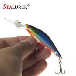 SEALURER 1Pcs  Laser  Wobblers Fishing Tackle 3D Eyes Sinking Minnow Fishing Lure Crankbait 6# hook - TheUrbanSky