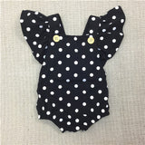 Baby Girls Dot Romper Newborn Infant Clothing Girls Summer Spring Cotton Ruffle Sleeve Romper  Toddler Jumpsuit 0-2Years C32 - TheUrbanSky