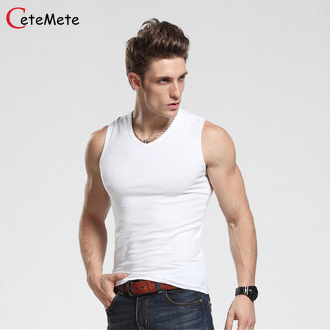Casual Gilet Men O-Neck Tank Tops Summer Male  Bodybuilding Sleeveless Vest gymclothing men fitness T shirt - TheUrbanSky