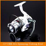 12+1 Bearing Balls Spinning reel fishing reel YA2000-YA5000 5.5:1 spinning reel casting fishing reel lure tackle line - TheUrbanSky