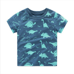 Children summer clothing baby boy T shirt cotton dinosaur short sleeve T-shirt kid boy casual sport T-shirt 2-8Y shirts - TheUrbanSky
