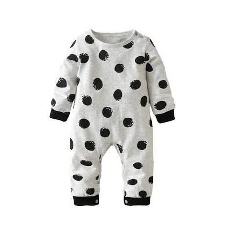 Baby Romper Long-sleeved Dot Newborn Toddler Jumpsuit Baby Boys Girls Clothes Infant Clothing - TheUrbanSky