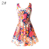 Women Chiffon Dress Sleeveless Sundress Beach Floral Tank Mini Dresses Vestido - TheUrbanSky