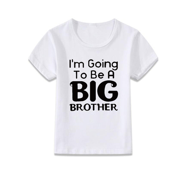 big brother painting shirt o-neck cotton tee white short t-shirt - TheUrbanSky