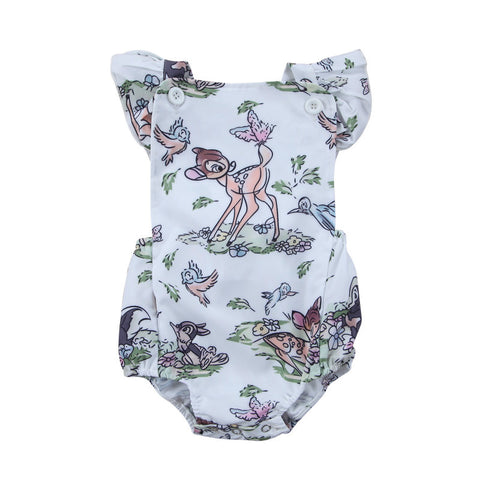 Cute Ruffles Newborn Baby Girl Romper Cartoon Animal Print Toddler Kids Jumpsuit Playsuit One Pieces Sunsuit Clothes 0-24M - TheUrbanSky