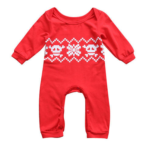 Christmas Newborn Baby Boy Girl Romper Long Sleeve Toddler Kids Jumpsuit One pieces Children Clothes 0-24M - TheUrbanSky