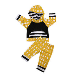 Baby Boys Hoodie T-shirt Top Cotton Pants Cute Clothing Outfits 2PCS Kid Baby Toddler Boy Girl Clothes Set Cute - TheUrbanSky