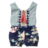 Cotton Newborn Baby Girl Kids Romper Floral Sleeveless Backless Tassels Jumpsuit Playsuit Clothes Outfits Summer Clothes Girls - TheUrbanSky