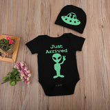 Infant Baby Girls Boys Romper+Hat 2pcs Print Outfits Set Halloween Gift - TheUrbanSky