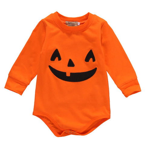 Newborn Baby Girls Boys Long Sleeve O-Neck Pullover Fashion Hot Romper Pumpkin  Halloween Outfits Clothes 0-18M - TheUrbanSky