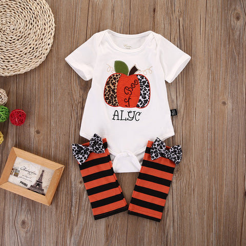 Halloween Newbron Baby Girls Outfits Clothes Romper AND  Leg Warmer 2pcs Set 0-18M - TheUrbanSky