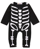 Newborn Baby Boy Girl Halloween Rompers Cotton Skeleton Costume - TheUrbanSky