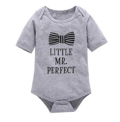 Short Sleeves Letter Rompers Infant Toddler One Pieces Jumpsuit