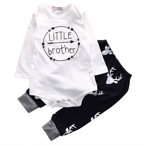 2pcs sets Romper Top T-shirt+Pants Leggings 2pcs Outfits Set