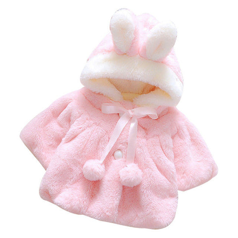 Fleece Hooded Infant Windbreaker Coat for Child Baby