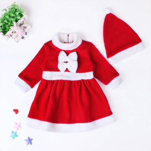 new red dresses +red hat 2pcs set